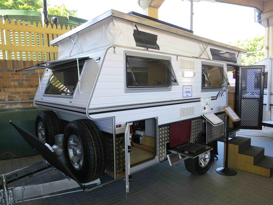Model Introducing The Raptor A Fantastic Off Road Pop Top Caravan By Royal