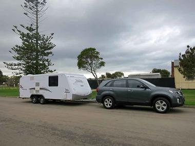 Tow Test Kia Sorento Si 4WD  caravancampingsalescomau
